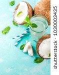 healthy food concept.  fresh... | Shutterstock . vector #1030003435