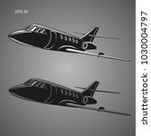 private jet vector icon.... | Shutterstock .eps vector #1030004797