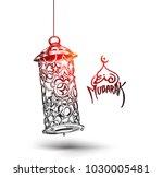 eid mubarak celebration ... | Shutterstock .eps vector #1030005481