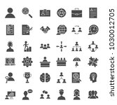 human resources solid web icons.... | Shutterstock .eps vector #1030012705