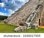 chichen itza  mexico   january... | Shutterstock . vector #1030017505