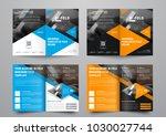 design a bi fold brochure with... | Shutterstock .eps vector #1030027744