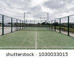 paddle tennis court outdoor ... | Shutterstock . vector #1030033015