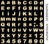 stock illustration   alphabetic ... | Shutterstock . vector #1030046941