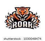 tiger roar illustration logo...   Shutterstock .eps vector #1030048474