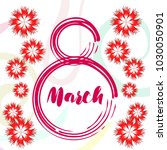 greeting card for march 8.... | Shutterstock .eps vector #1030050901