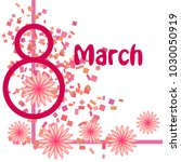 greeting card for march 8.... | Shutterstock .eps vector #1030050919