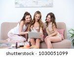 beautiful happy girlfriends... | Shutterstock . vector #1030051099