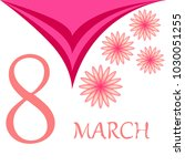 greeting card for march 8.... | Shutterstock .eps vector #1030051255