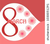 greeting card for march 8.... | Shutterstock .eps vector #1030051291