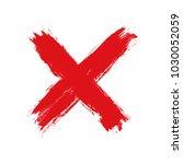 hand drawn cross. grunge cross. ... | Shutterstock .eps vector #1030052059