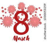 greeting card for march 8.... | Shutterstock .eps vector #1030053259