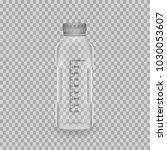 scientific glassware. realistic ... | Shutterstock .eps vector #1030053607