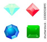 a set of icons of precious... | Shutterstock .eps vector #1030053895