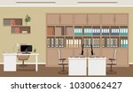 office interior concept.... | Shutterstock .eps vector #1030062427
