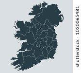 ireland map on gray background... | Shutterstock .eps vector #1030065481
