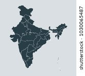 india map on gray background... | Shutterstock .eps vector #1030065487