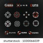 aim  sight outline icon...   Shutterstock .eps vector #1030066039
