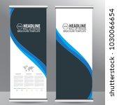 blue roll up business... | Shutterstock .eps vector #1030066654