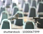 microphone in the conference... | Shutterstock . vector #1030067599