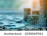 finance and investment concept... | Shutterstock . vector #1030069561