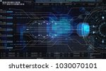 hi tech user interface head up... | Shutterstock . vector #1030070101