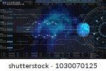 hi tech user interface head up... | Shutterstock . vector #1030070125