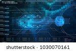 hi tech user interface head up... | Shutterstock . vector #1030070161