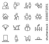 flat vector icon set   support... | Shutterstock .eps vector #1030072051