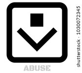 abuse conceptual graphic icon.... | Shutterstock .eps vector #1030072345