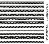 set of vector borders art... | Shutterstock .eps vector #1030078471