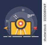 target advertising banner...   Shutterstock .eps vector #1030080469