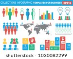 collection of infographic... | Shutterstock .eps vector #1030082299