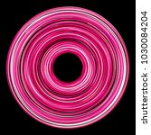 pink circular neon glowing... | Shutterstock . vector #1030084204