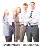 professional business team... | Shutterstock . vector #1030084939