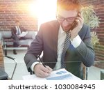 businessman working with... | Shutterstock . vector #1030084945