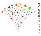 multi colored wine glass...   Shutterstock .eps vector #1030091569