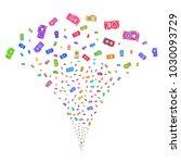 multicolored video card gpu...   Shutterstock .eps vector #1030093729