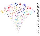 multicolored venus symbol...   Shutterstock .eps vector #1030093735