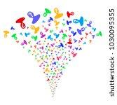 multicolored unknown person... | Shutterstock .eps vector #1030095355