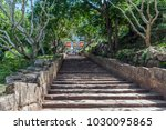 the staircase to the buddhist... | Shutterstock . vector #1030095865