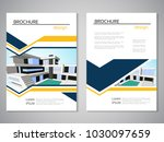 vector modern brochure ... | Shutterstock .eps vector #1030097659