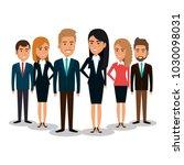 group of businespeople teamwork | Shutterstock .eps vector #1030098031