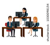 group of businespeople in the... | Shutterstock .eps vector #1030098154