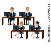 group of businespeople teamwork ... | Shutterstock .eps vector #1030098361