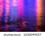 colorful light reflection on... | Shutterstock . vector #1030099057