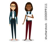 group of businesswoman teamwork | Shutterstock .eps vector #1030099111