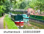 narrowboats on the oxford canal ...   Shutterstock . vector #1030103089