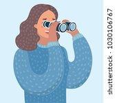 vector cartoon illustration of... | Shutterstock .eps vector #1030106767