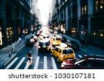 blurred photo of big city life... | Shutterstock . vector #1030107181